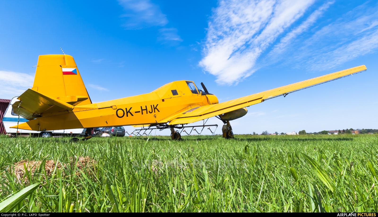 Agroair OK-HJK aircraft at Chrudim