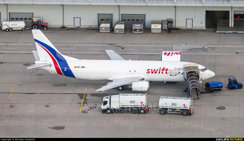 Swiftair EC-MNM aircraft at Ostrava Mošnov
