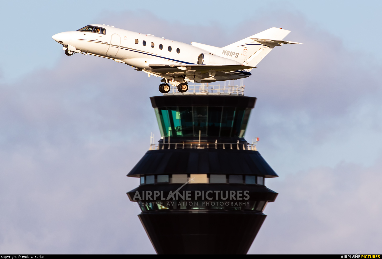 Private N91PS aircraft at Manchester