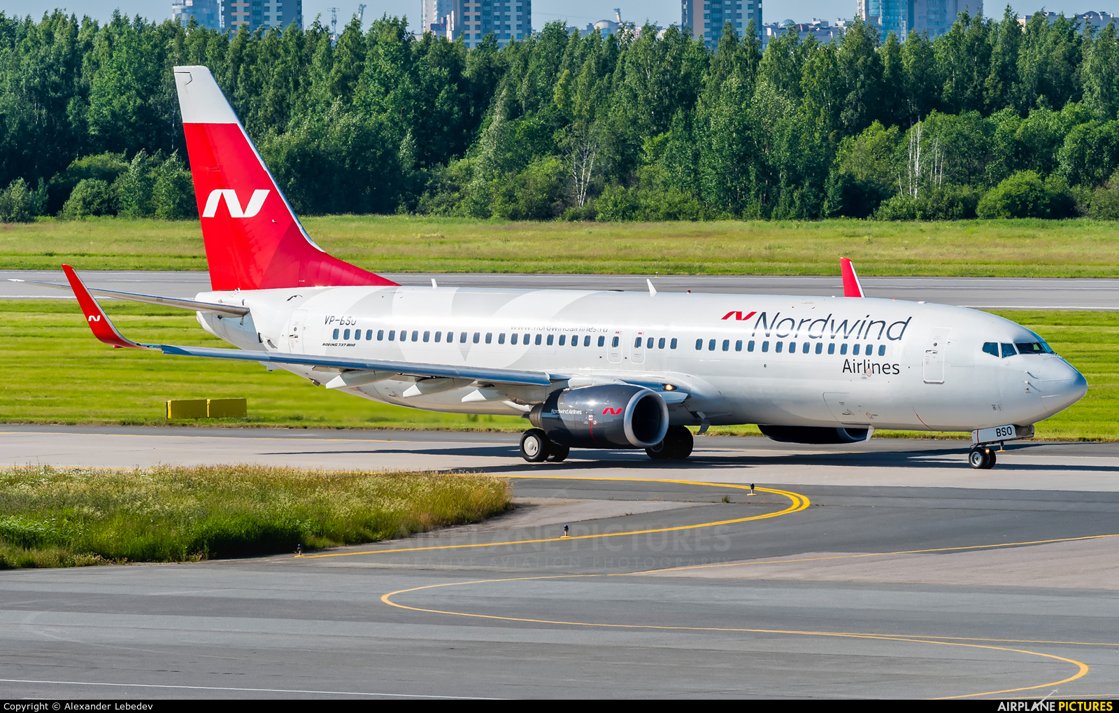 Nordwind Airlines VP-BSO aircraft at St. Petersburg - Pulkovo
