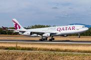 Rare visit of Qatar Amiri A340 to Basel title=