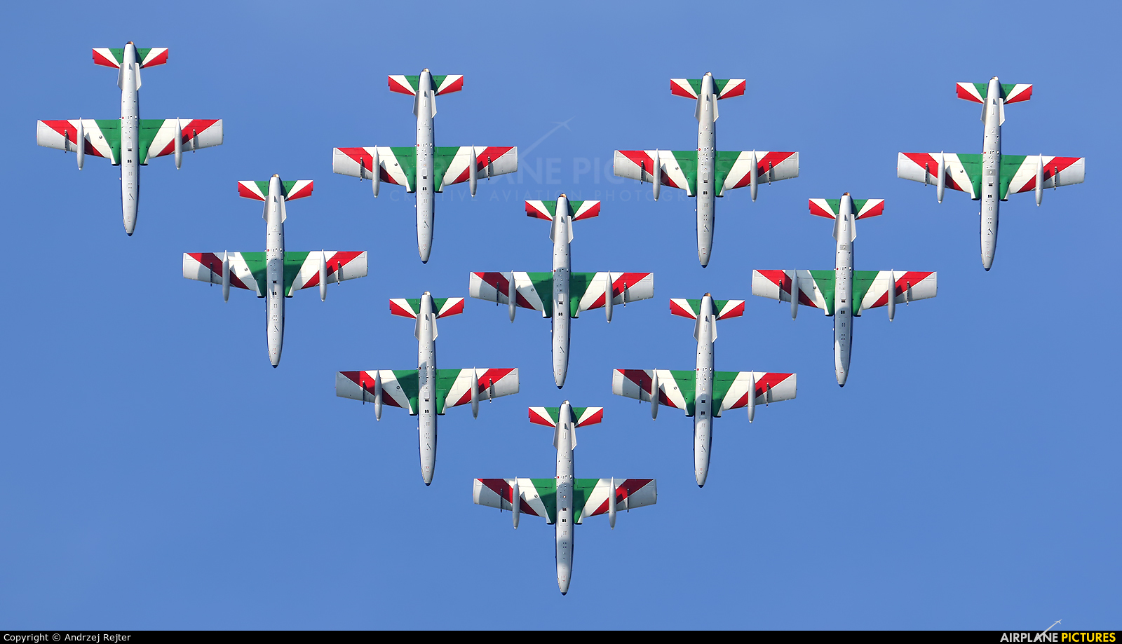"""Italy - Air Force """"Frecce Tricolori"""" MM54477 aircraft at Zeltweg"""