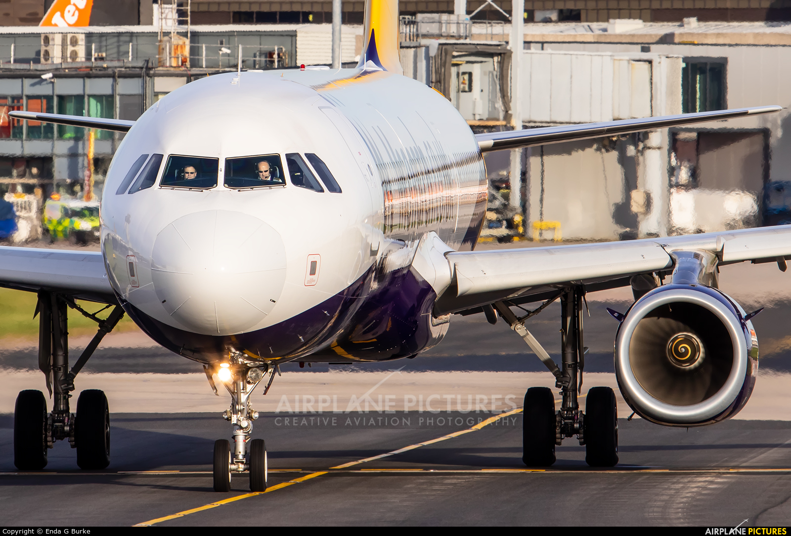 Monarch Airlines G-ZBAD aircraft at Manchester