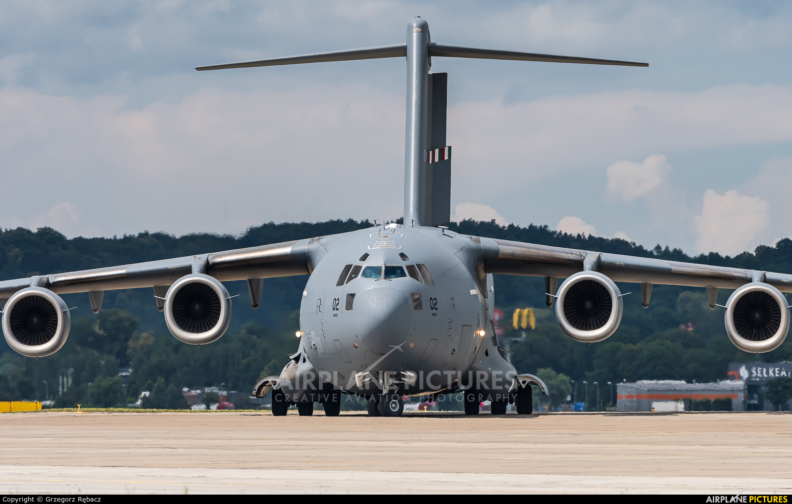 Strategic Airlift Capability NATO 08-0002 aircraft at Kraków - John Paul II Intl
