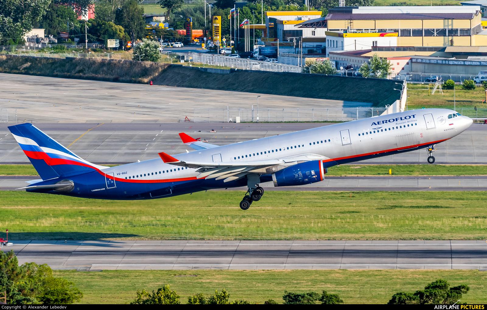 Aeroflot VQ-BQZ aircraft at Sochi Intl