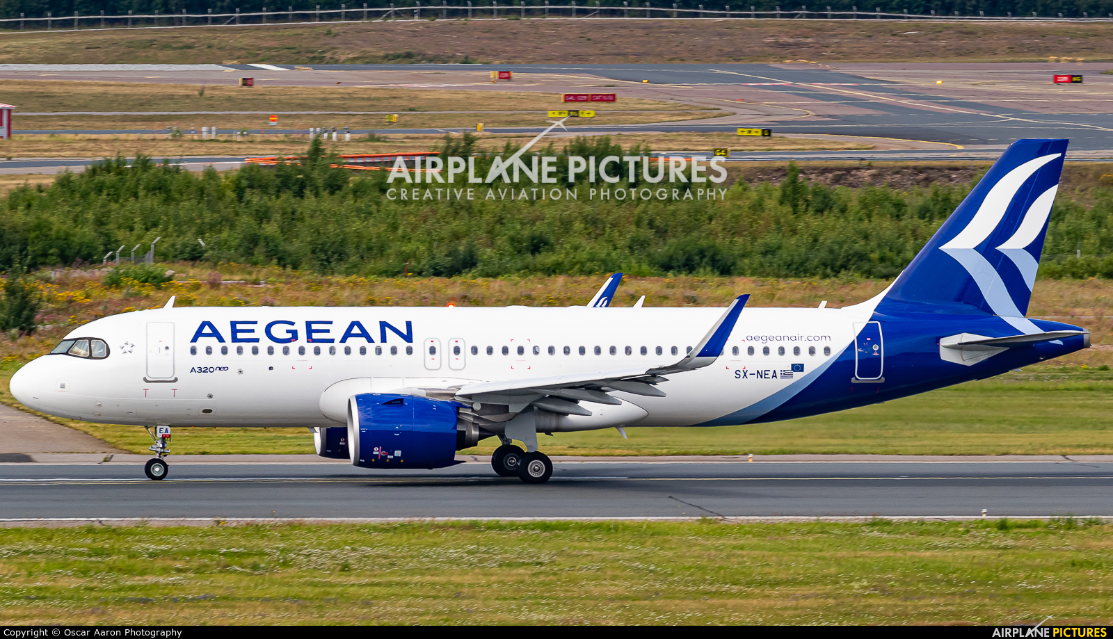 Aegean Airlines SX-NEA aircraft at Helsinki - Vantaa