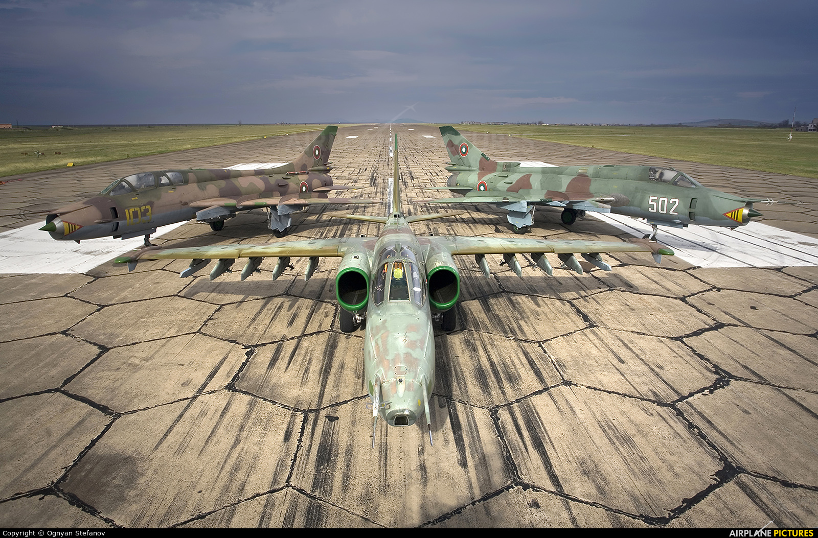 Bulgaria - Air Force 252 aircraft at Bezmer