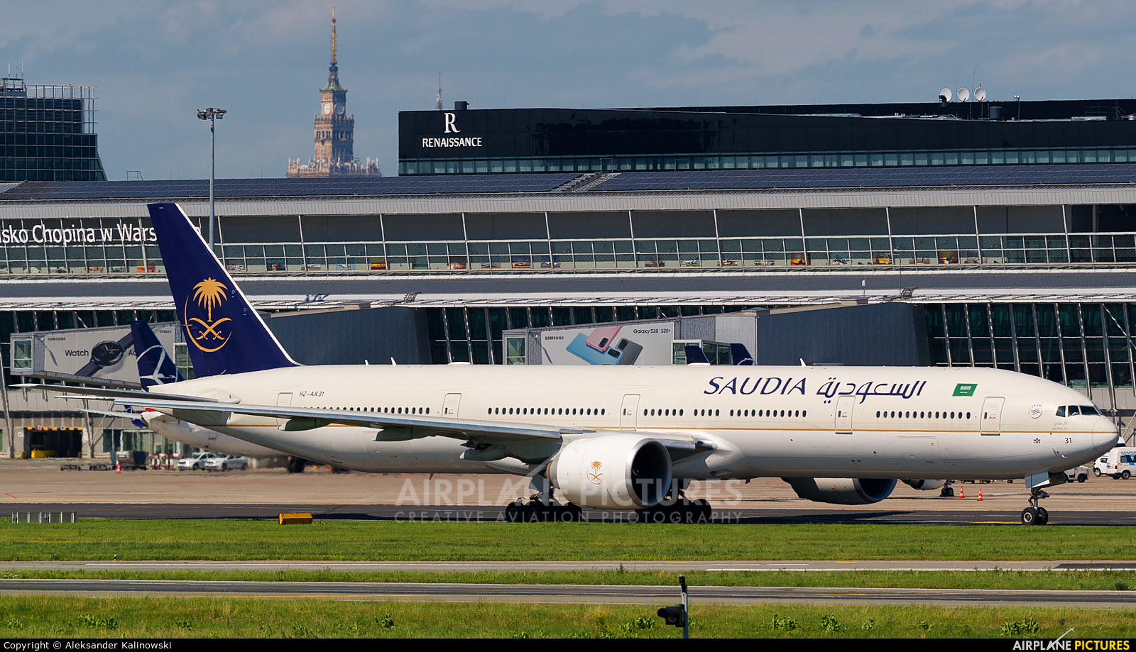 Saudi Arabian Airlines HZ-AK31 aircraft at Warsaw - Frederic Chopin