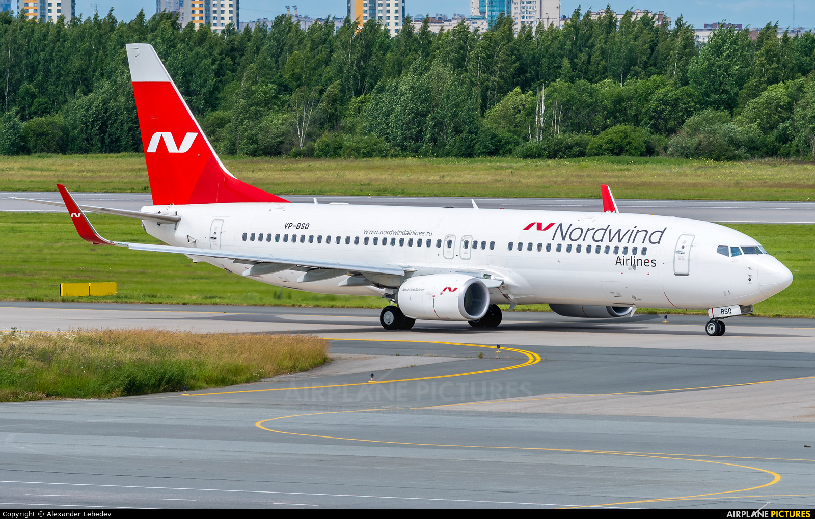 Nordwind Airlines VP-BSQ aircraft at St. Petersburg - Pulkovo