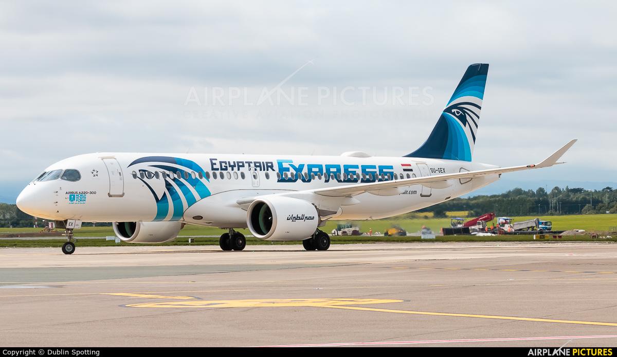 Egyptair Express SU-GEX aircraft at Dublin