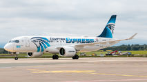 Egyptair Airbus A220 visited Dublin title=