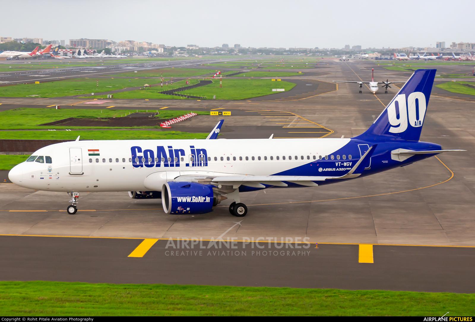 Go Air VT-WGV aircraft at Mumbai - Chhatrapati Shivaji Intl