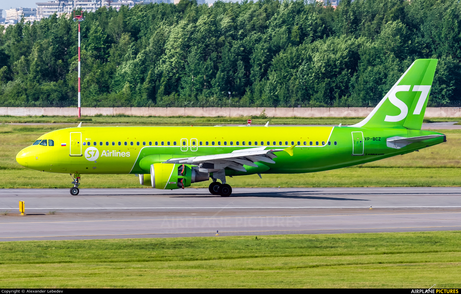 S7 Airlines VP-BCZ aircraft at St. Petersburg - Pulkovo