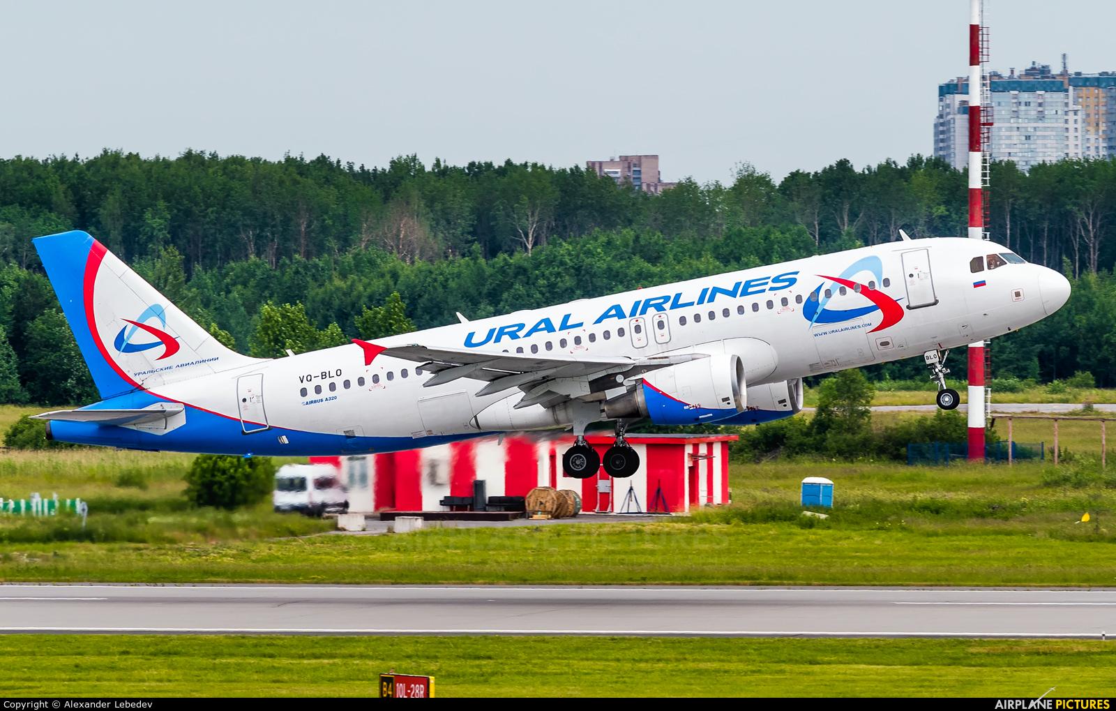 Ural Airlines VQ-BLO aircraft at St. Petersburg - Pulkovo