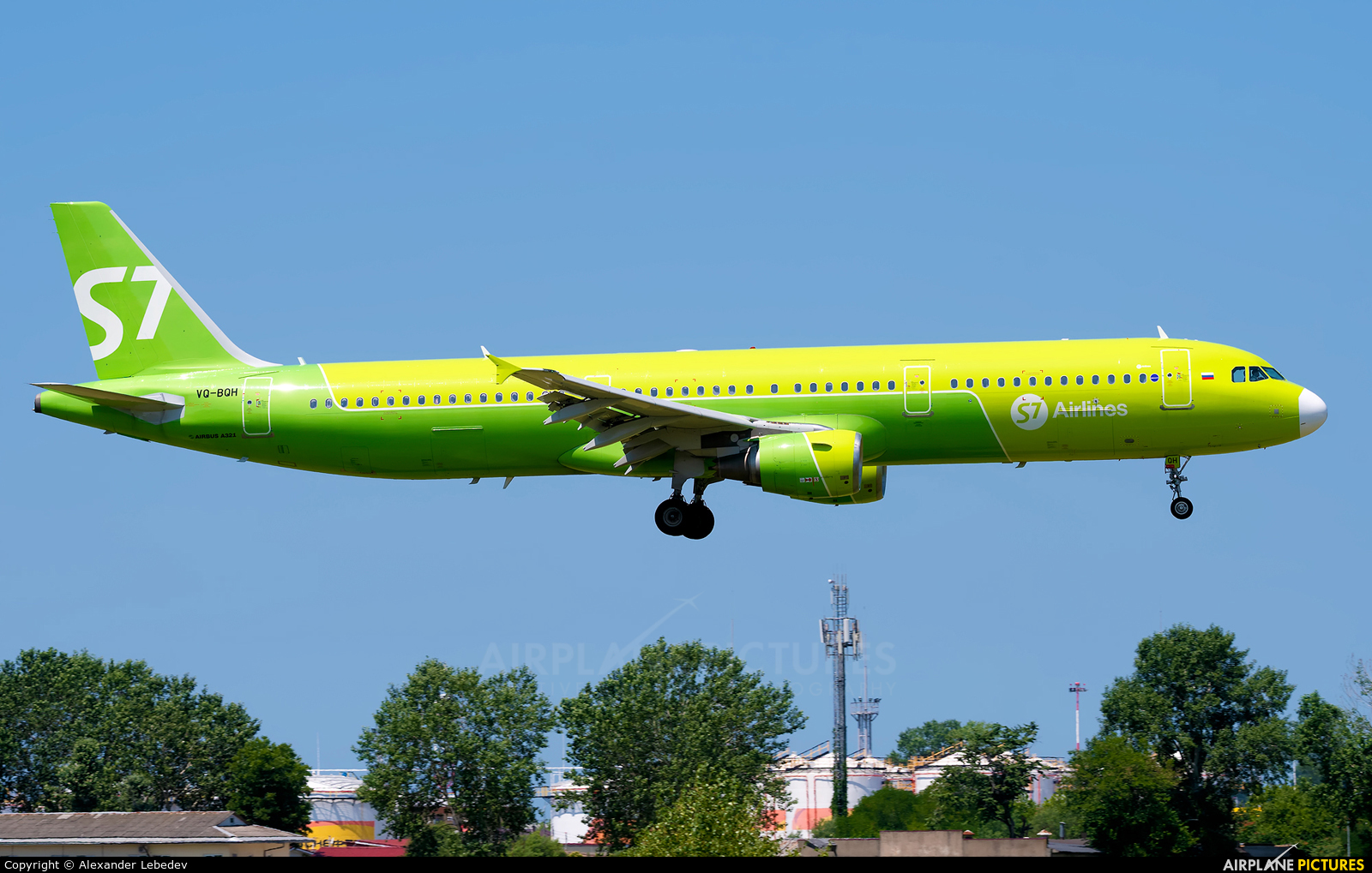 S7 Airlines VQ-BQH aircraft at Sochi Intl