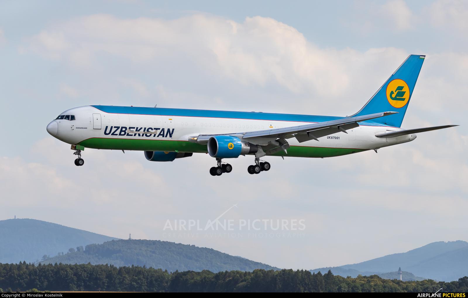 Uzbekistan Airways UK67001 aircraft at Ostrava Mošnov