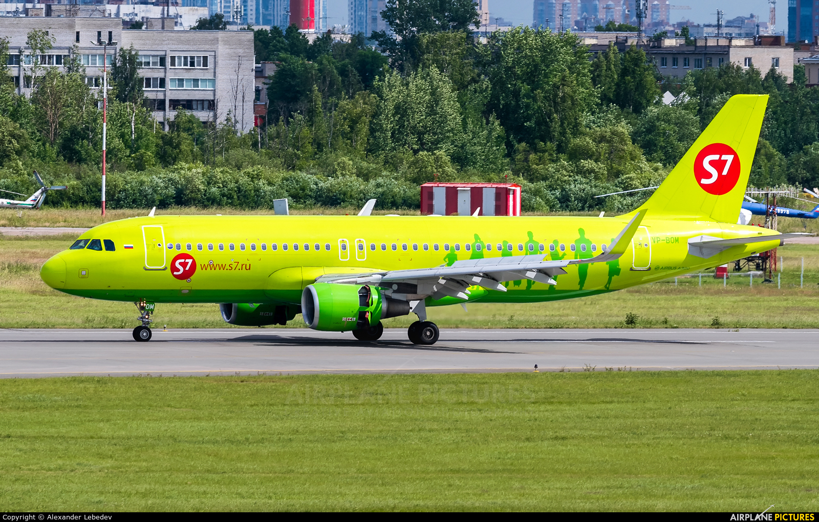 S7 Airlines VP-BOM aircraft at St. Petersburg - Pulkovo
