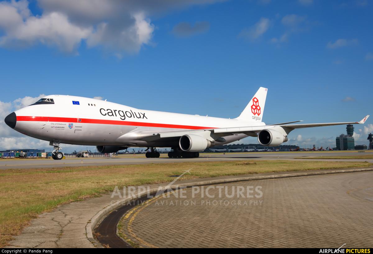Cargolux LX-NCL aircraft at HKG - Chek Lap Kok Intl