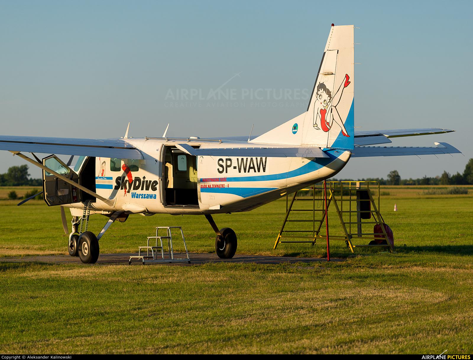 Aeroklub Warszawski SP-WAW aircraft at Chrcynno