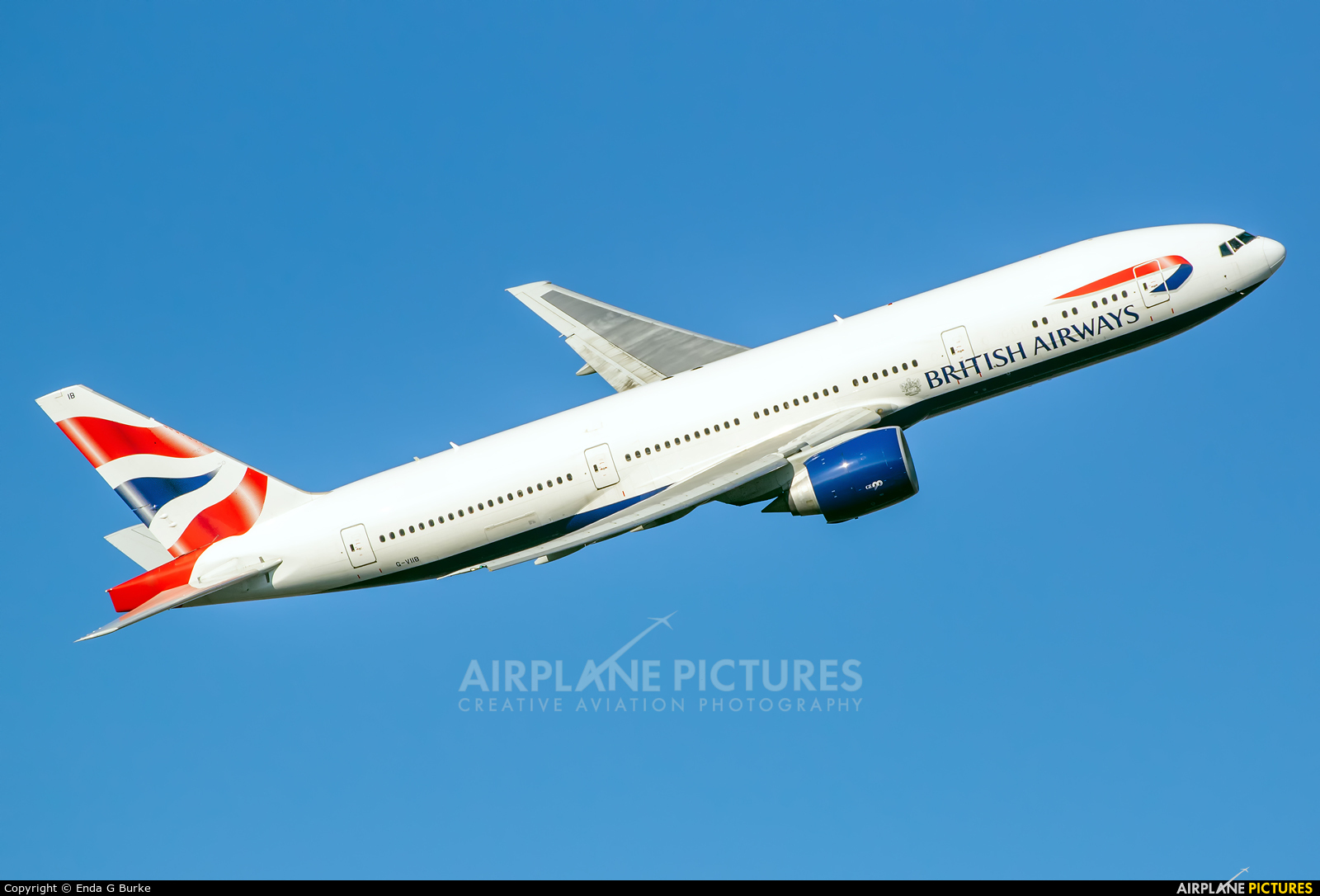 British Airways G-VIIB aircraft at London - Heathrow