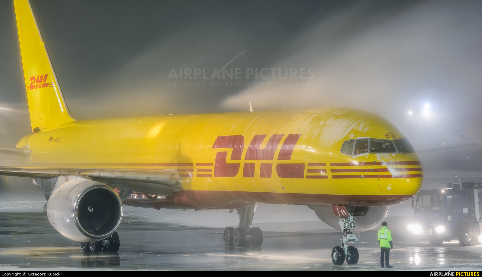 DHL Cargo D-ALES aircraft at Katowice - Pyrzowice