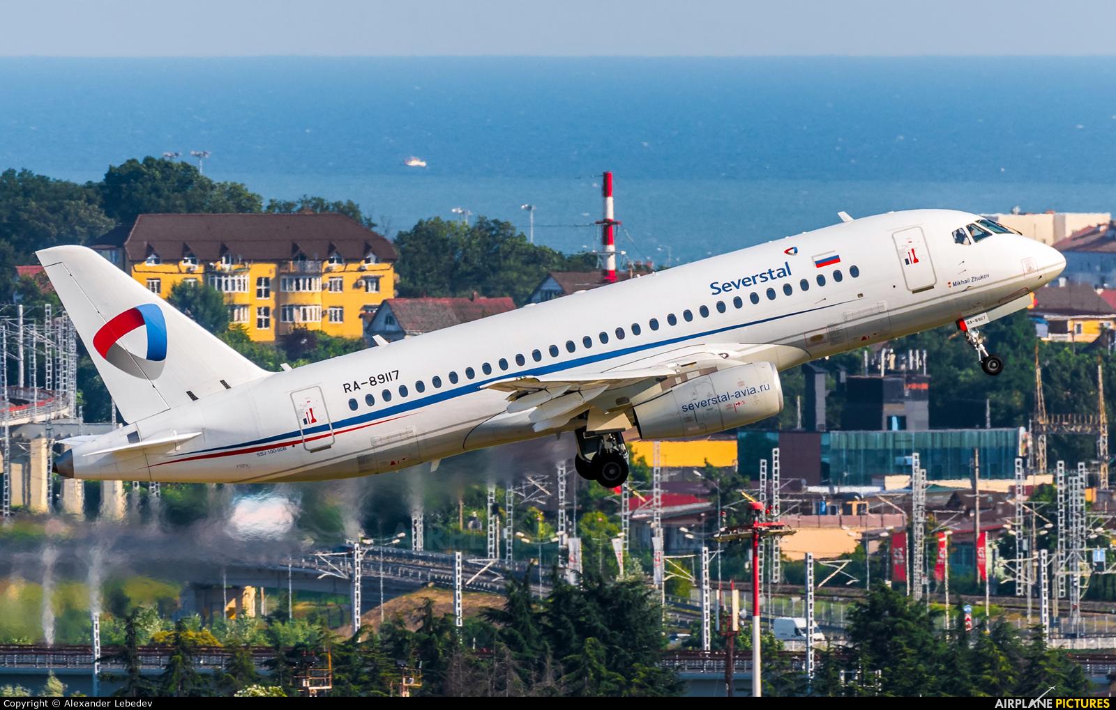 Severstal Air Company RA-89117 aircraft at Sochi Intl