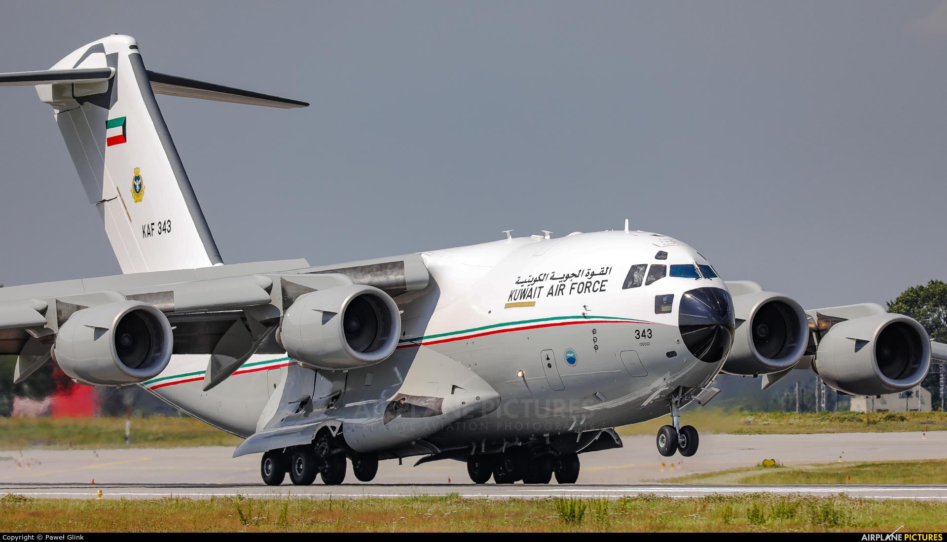 Kuwait - Air Force KAF343 aircraft at Gdańsk - Lech Wałęsa