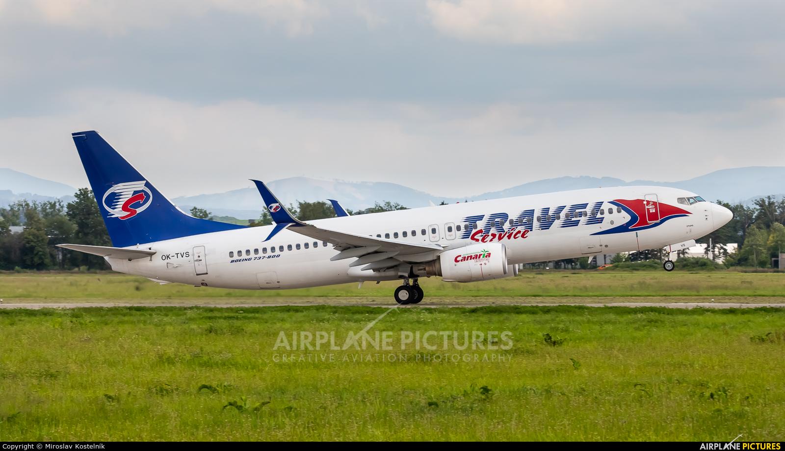 SmartWings OK-TVS aircraft at Ostrava Mošnov