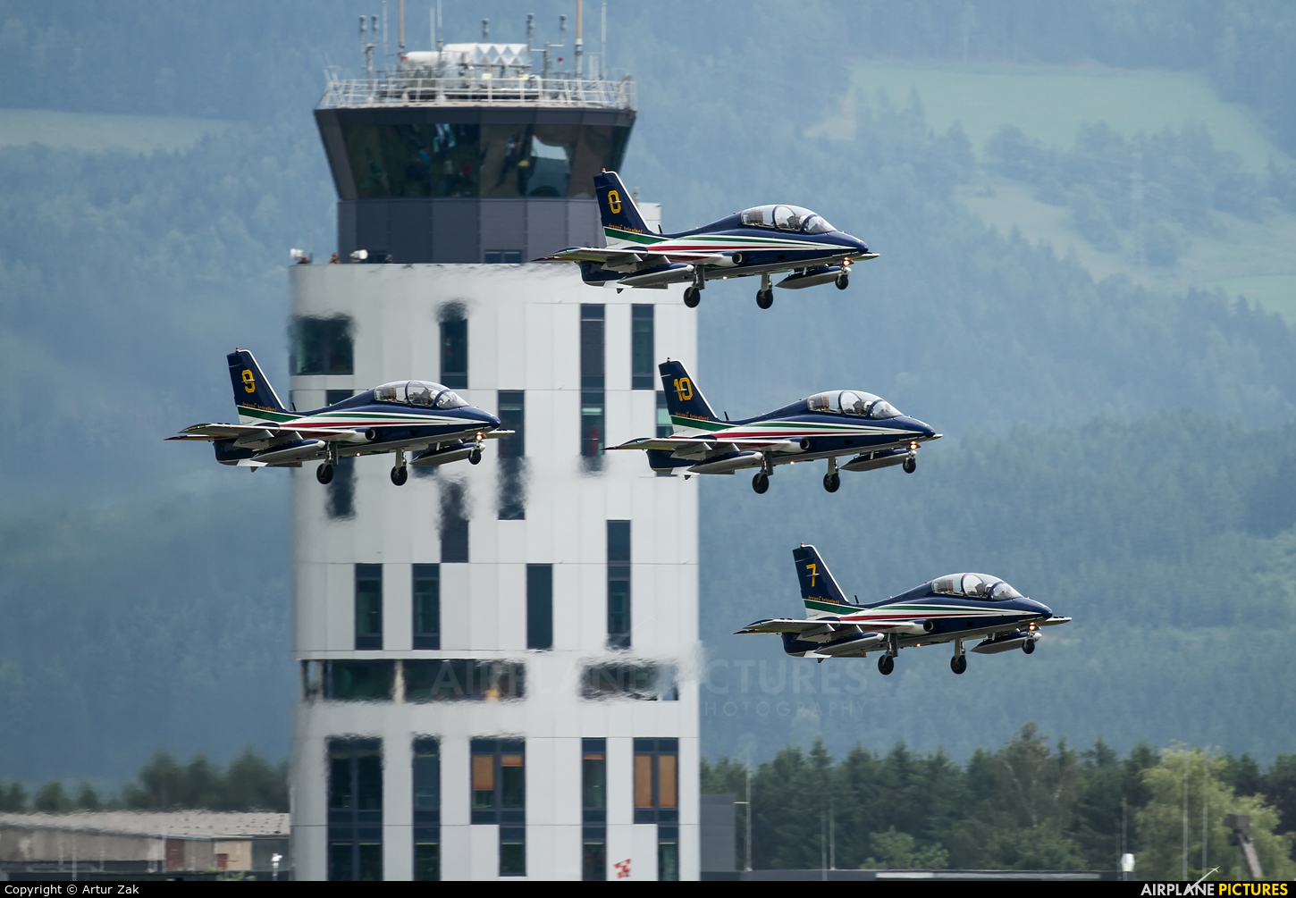 """Italy - Air Force """"Frecce Tricolori"""" - aircraft at Zeltweg"""