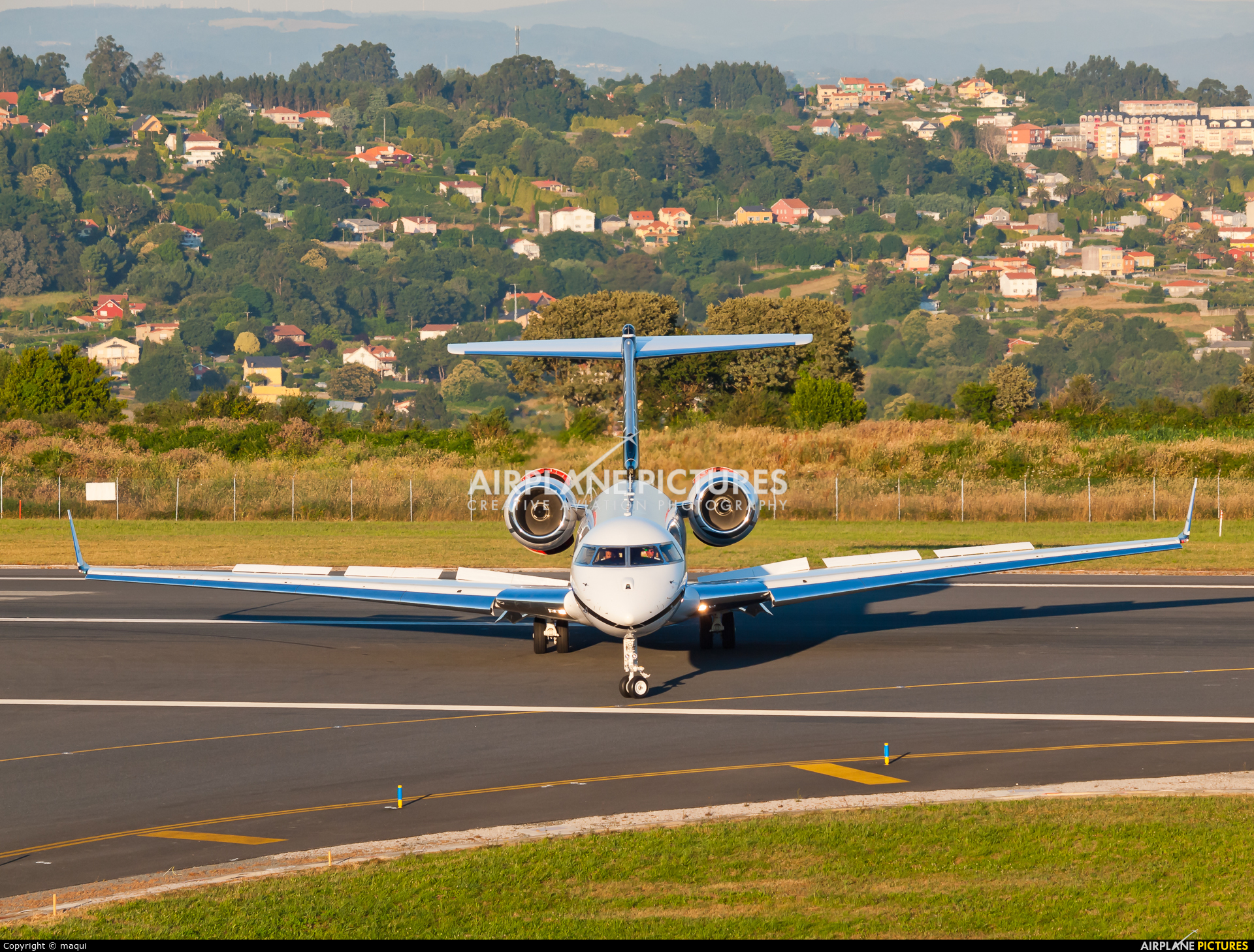 Private N203JE aircraft at La Coruña