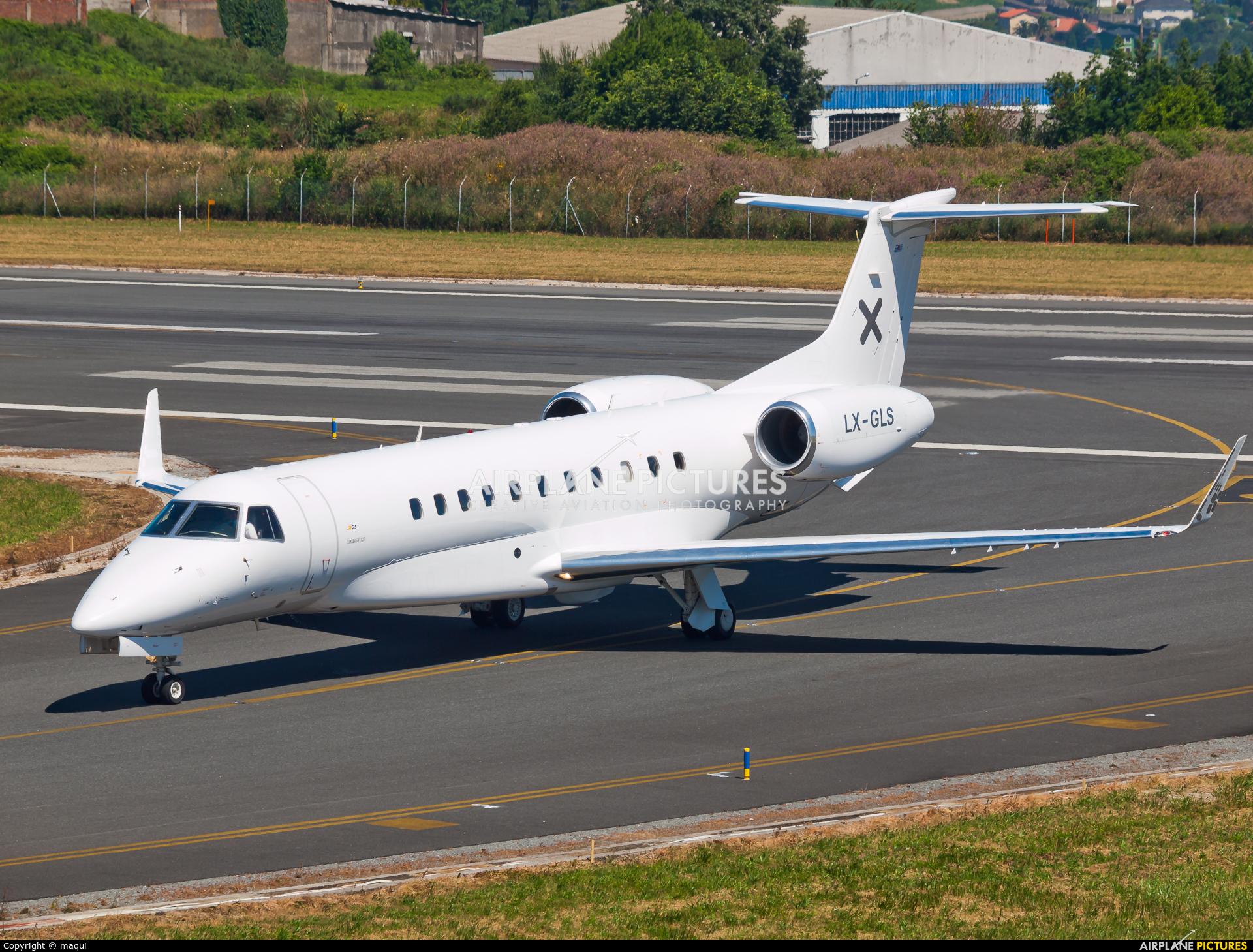 Luxaviation LX-GLS aircraft at La Coruña