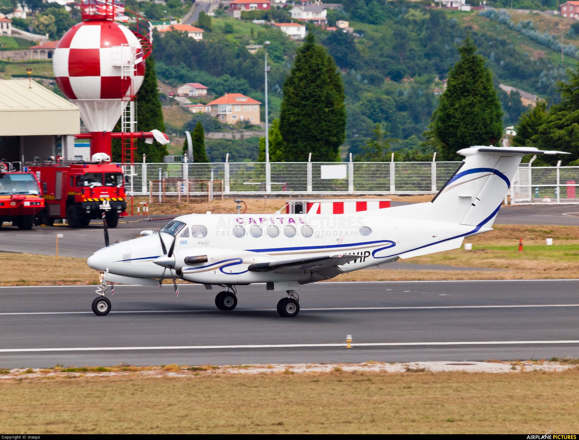 Private G-KVIP aircraft at La Coruña