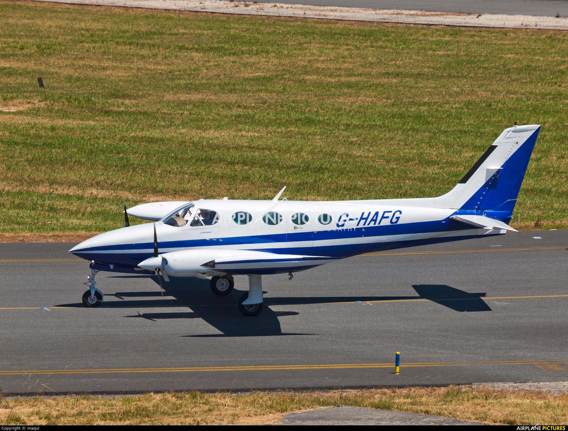 Private G-HAFG aircraft at La Coruña