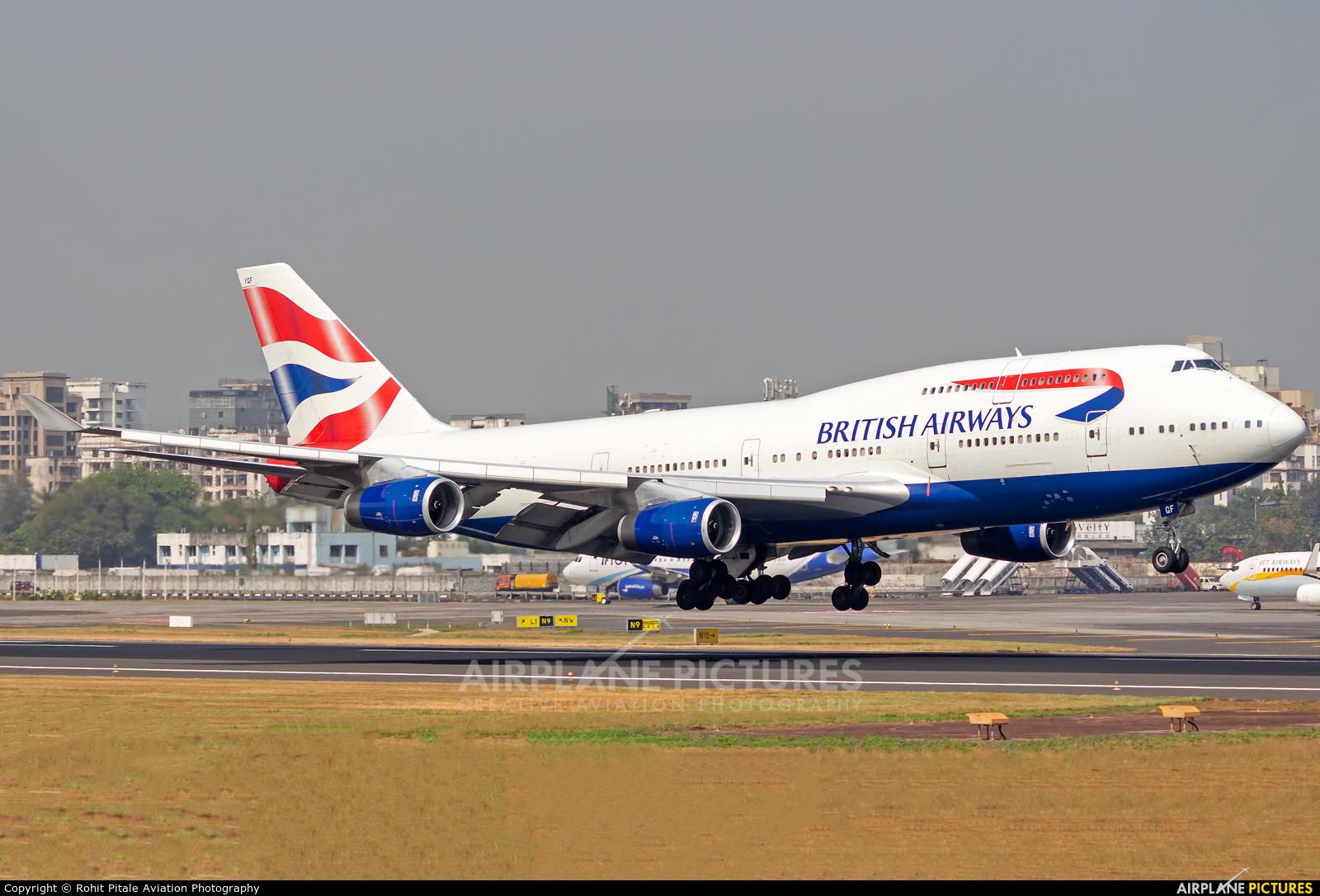 British Airways G-BYGF aircraft at Mumbai - Chhatrapati Shivaji Intl
