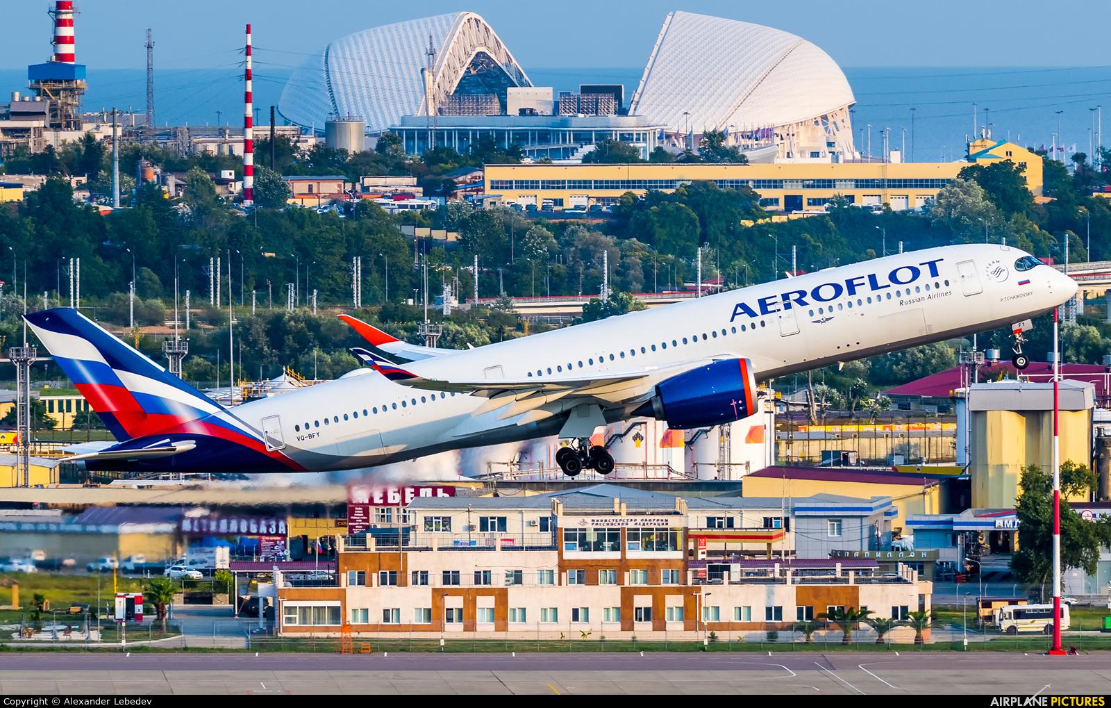Aeroflot VQ-BFY aircraft at Sochi Intl