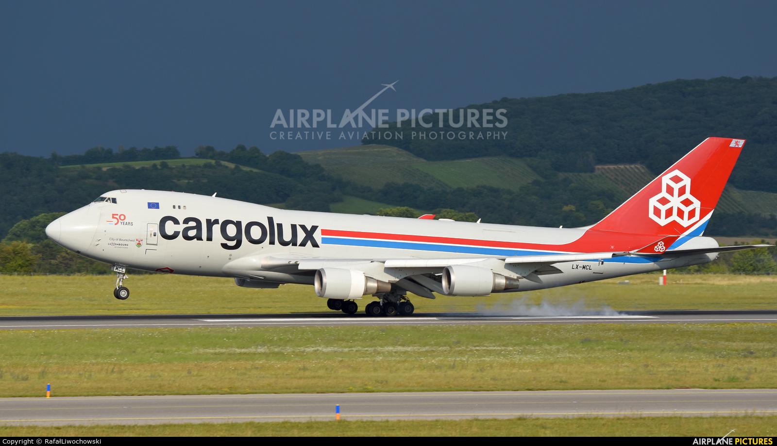 Cargolux LX-MCL aircraft at Vienna - Schwechat