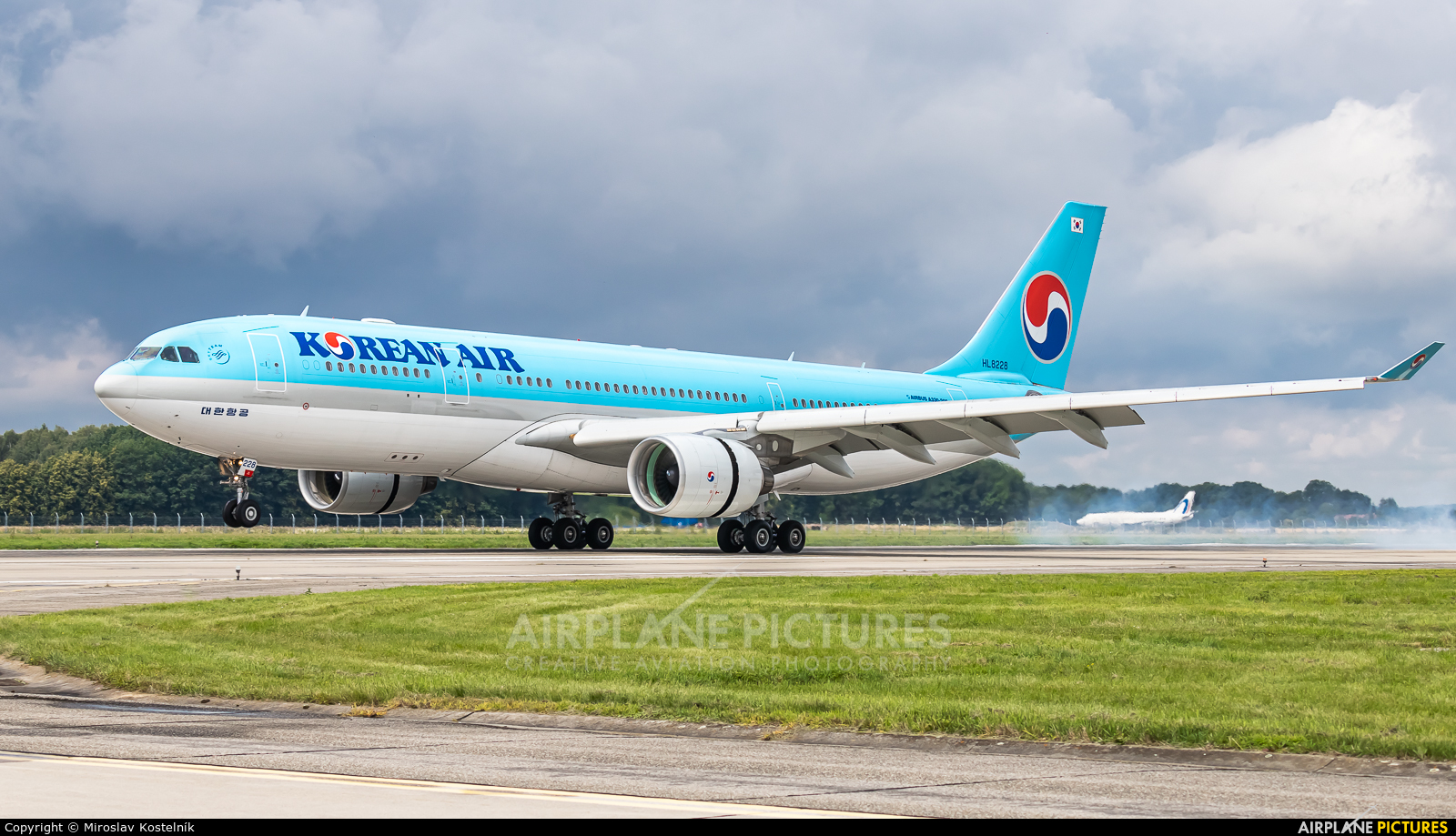 Korean Air HL8228 aircraft at Ostrava Mošnov