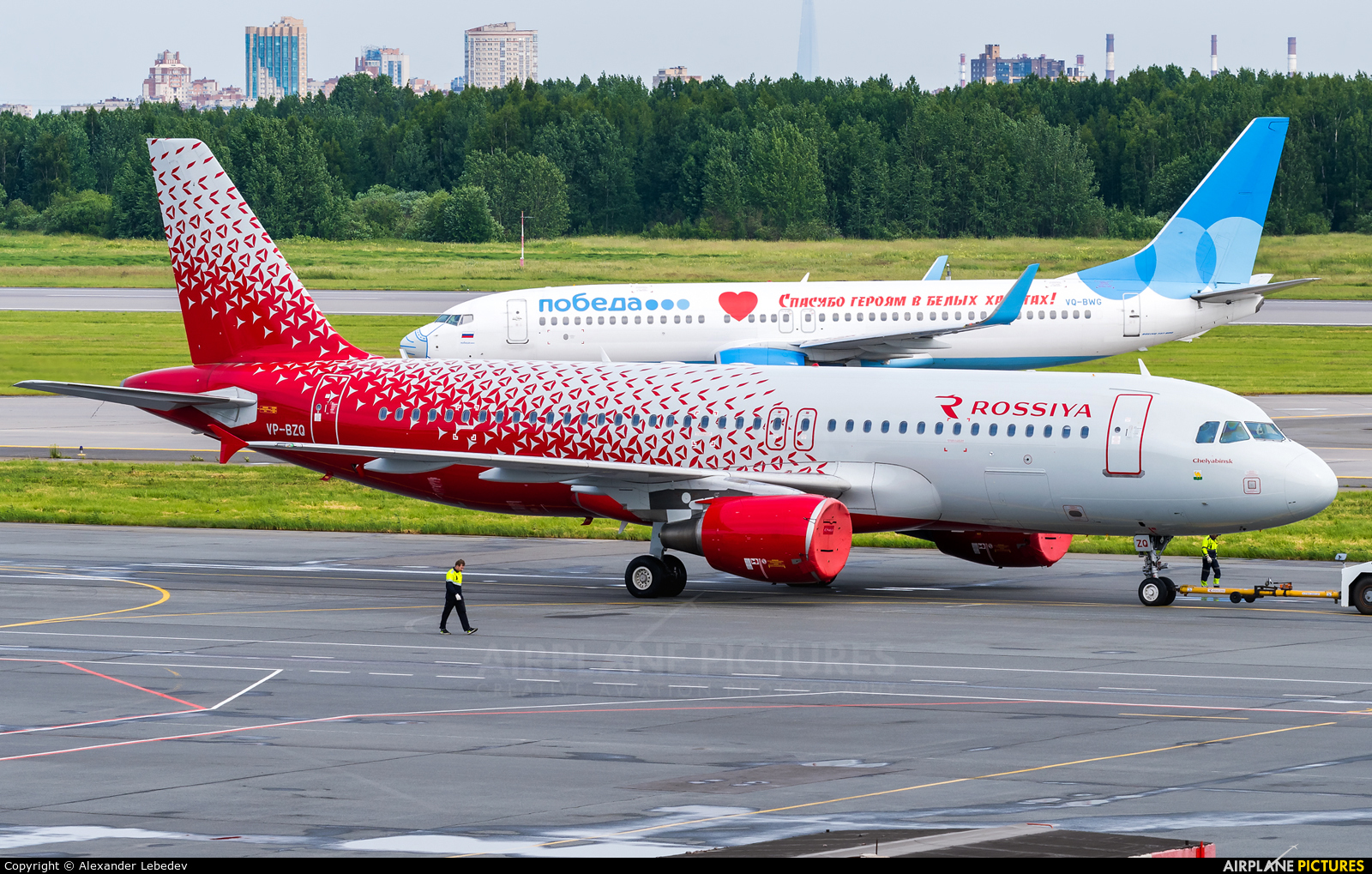 Rossiya VP-BZQ aircraft at St. Petersburg - Pulkovo