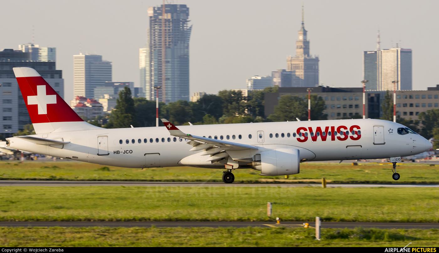 Swiss HB-JCO aircraft at Warsaw - Frederic Chopin