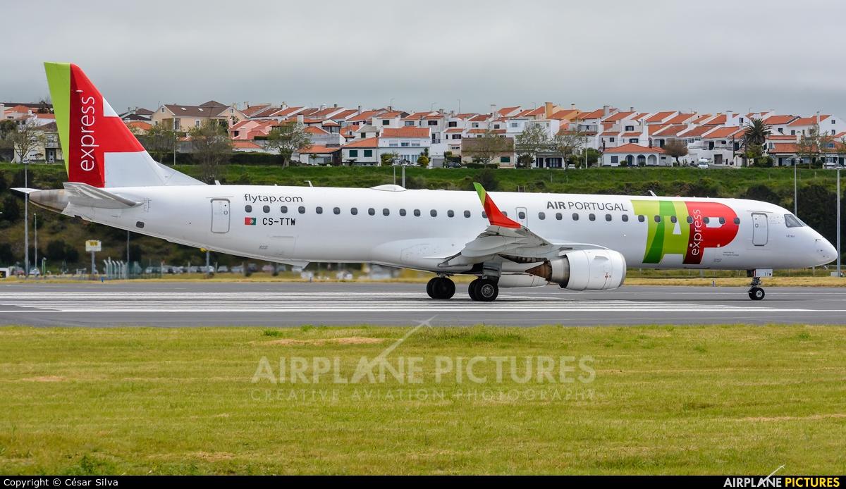 TAP Express CS-TTW aircraft at Azores - Ponta Delgada