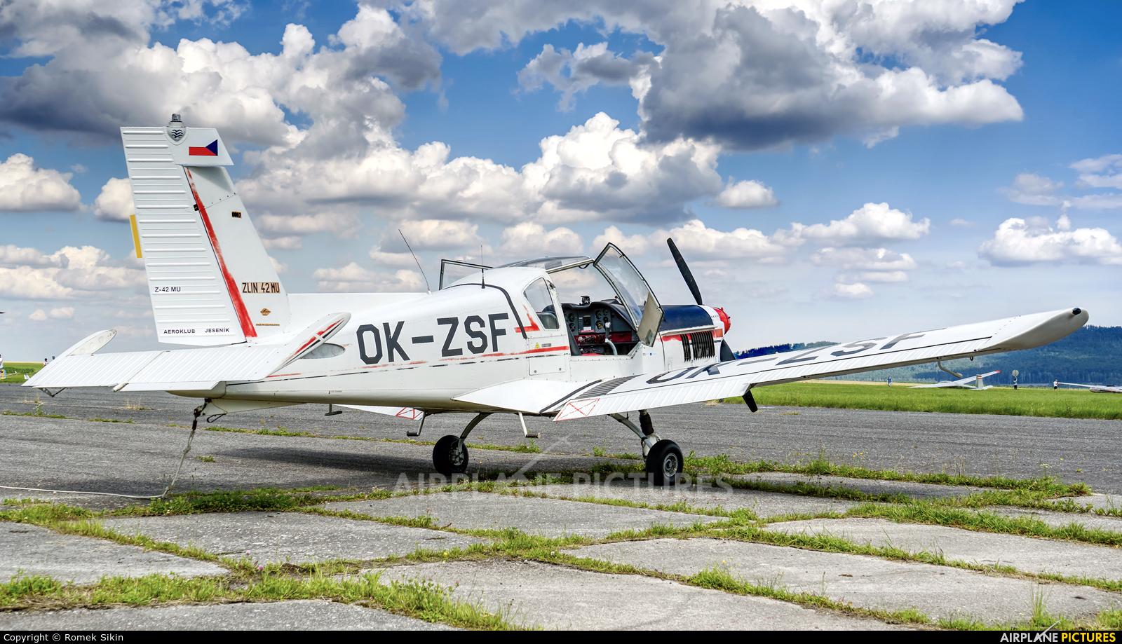 Aeroklub Jeseník OK-ZSF aircraft at Mikulovice