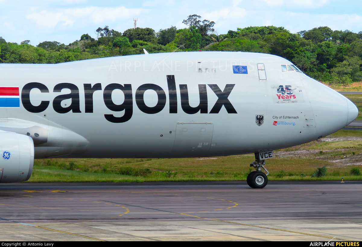 Cargolux LX-VCE aircraft at Manaus - Eduardo Gomes
