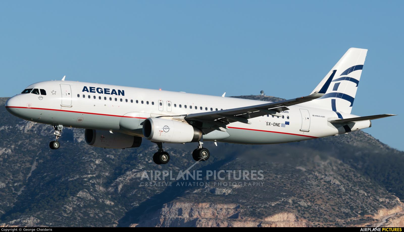 Aegean Airlines SX-DNE aircraft at Athens - Eleftherios Venizelos