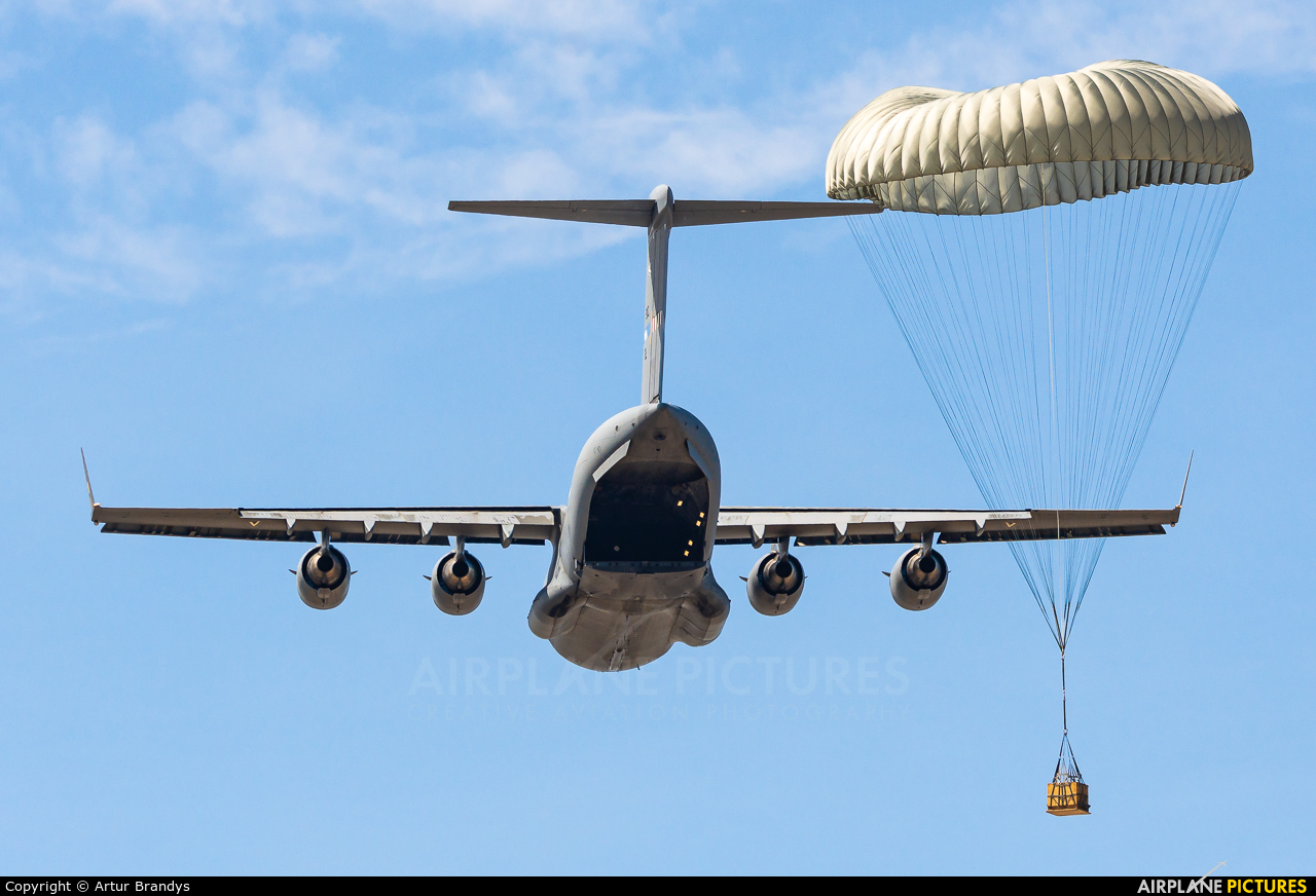 Strategic Airlift Capability NATO 08-0002 aircraft at Off Airport - Poland