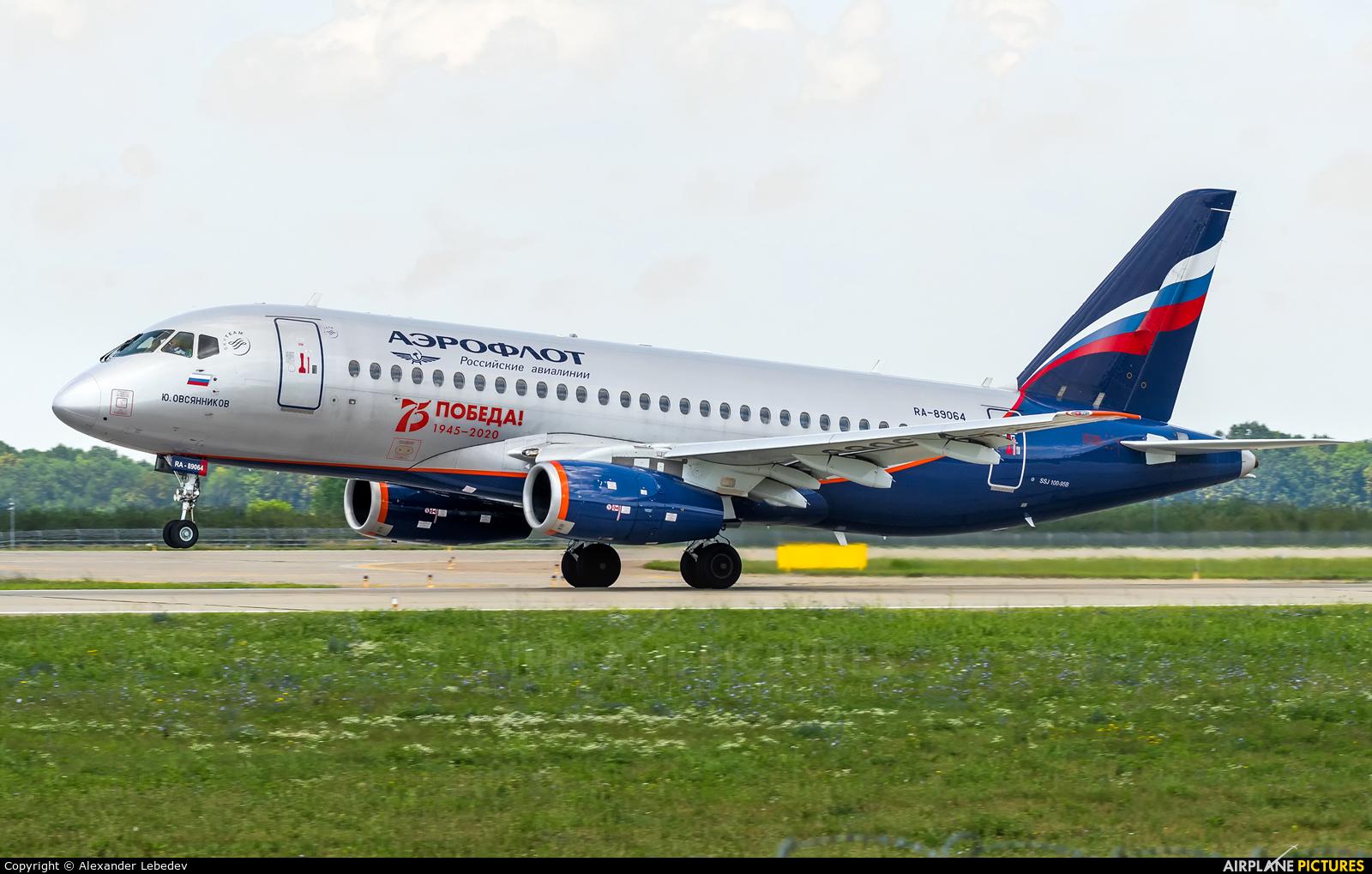 Aeroflot RA-89064 aircraft at Krasnodar