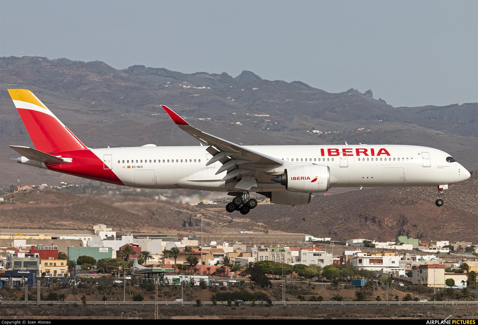 Iberia EC-NCX aircraft at Aeropuerto de Gran Canaria
