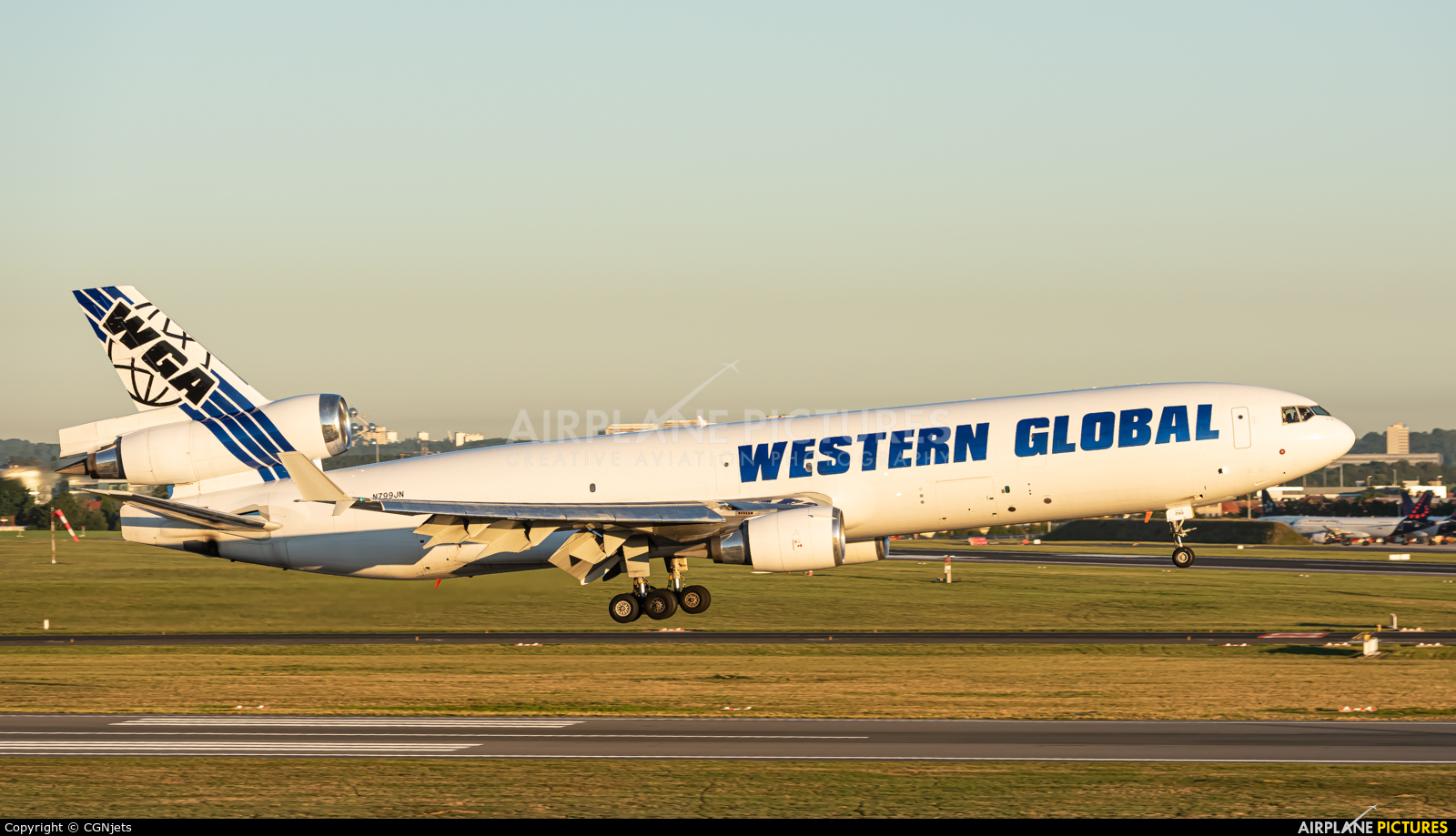 Western Global Airlines N799JN aircraft at Brussels - Zaventem