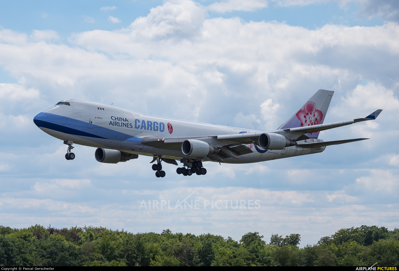 China Airlines Cargo B-18701 aircraft at Luxembourg - Findel
