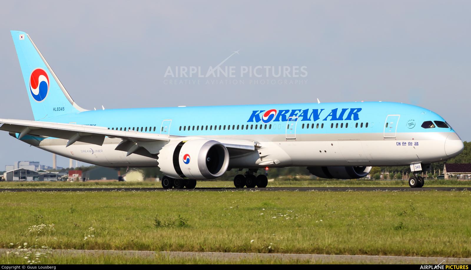 Korean Air HL8345 aircraft at Amsterdam - Schiphol