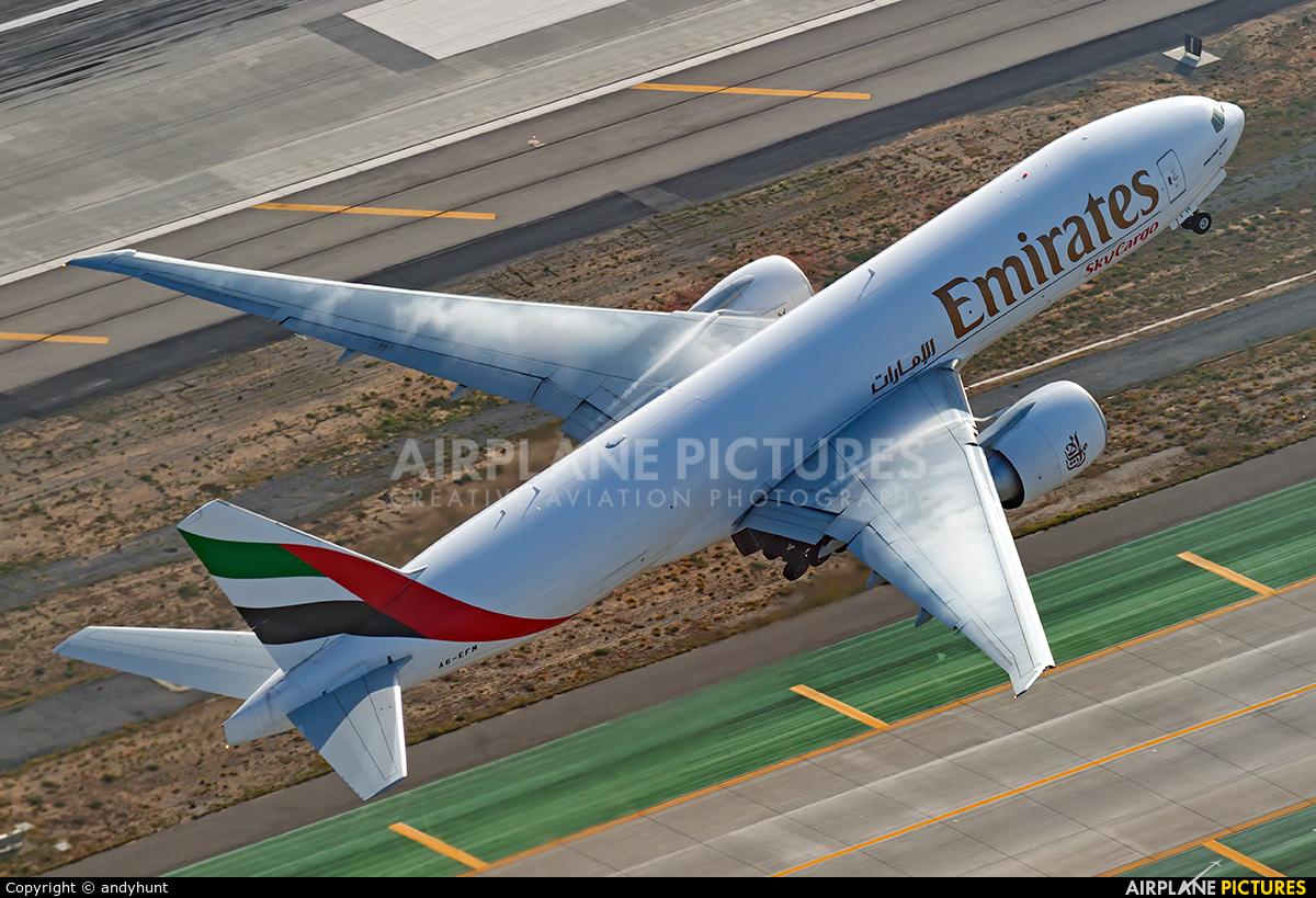 Emirates Sky Cargo A6-EFM aircraft at Los Angeles Intl